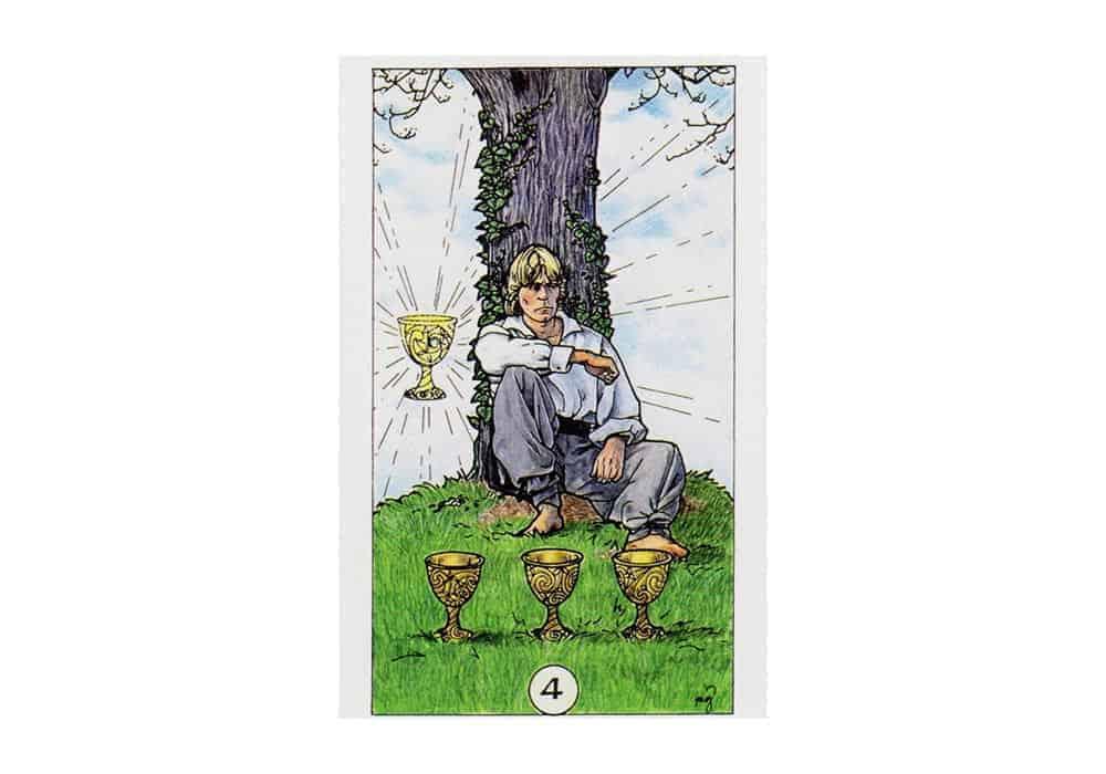 Tarot i ljubav – značenje pojedine karte (Četvorka pehara)