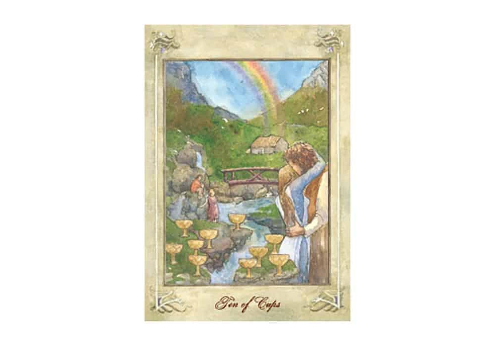 Tarot i ljubav – značenje pojedine karte (Desetka pehara)