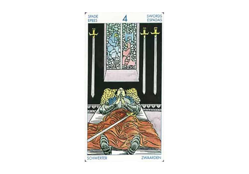 Tarot i ljubav – značenje pojedine karte (Četvorka mačeva)