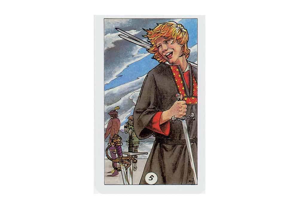 Tarot i ljubav – značenje pojedine karte (Petica mačeva)