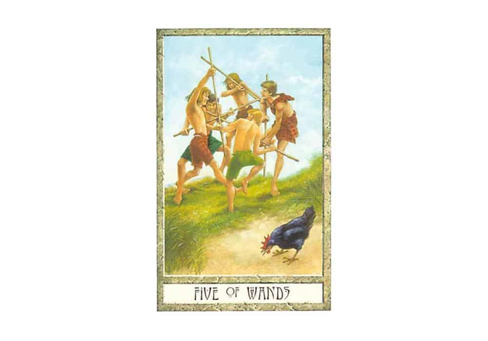 Tarot i ljubav – značenje pojedine karte (Petica štapova)