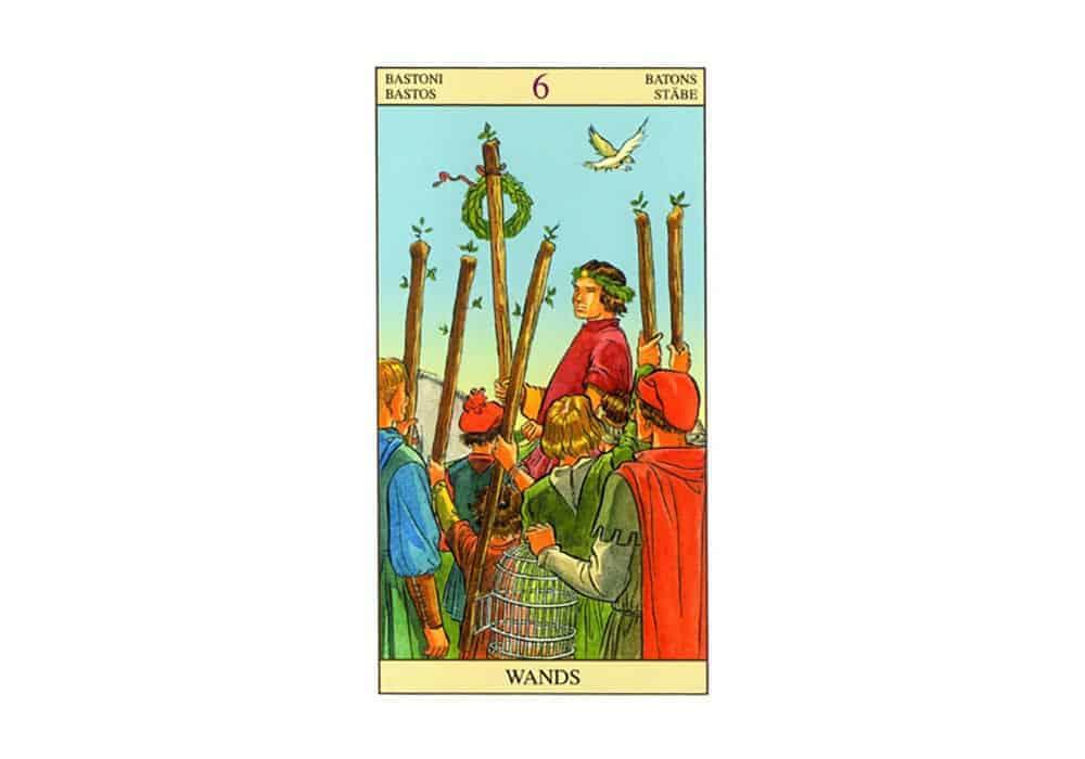 Tarot i ljubav – značenje pojedine karte (Šestica štapova)