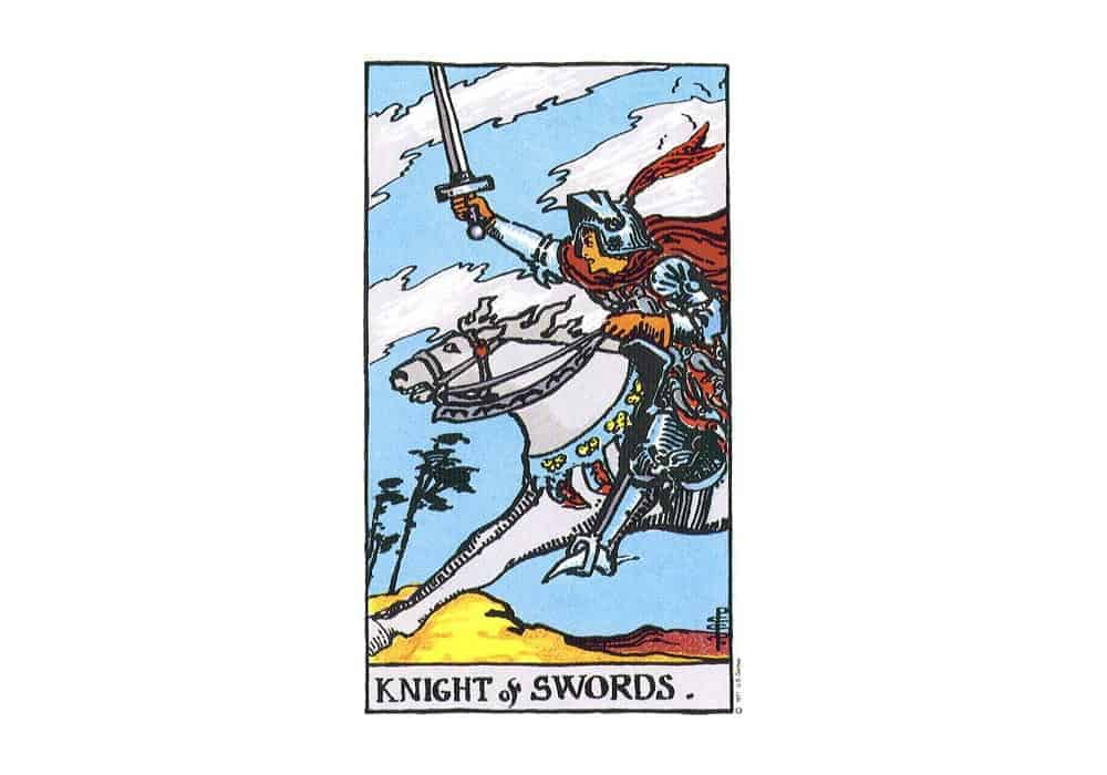 Tarot i ljubav – značenje pojedine karte (Vitez mačeva)
